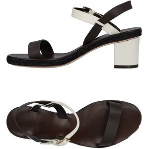 NEW TORY BURCH Leather Buckled Ankle Strap Sandals